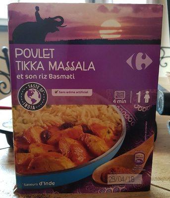Poulet tikka massala et son riz basmati - Produit - fr