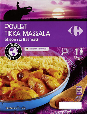 Poulet tikka massala et son riz Basmati - Prodotto - fr