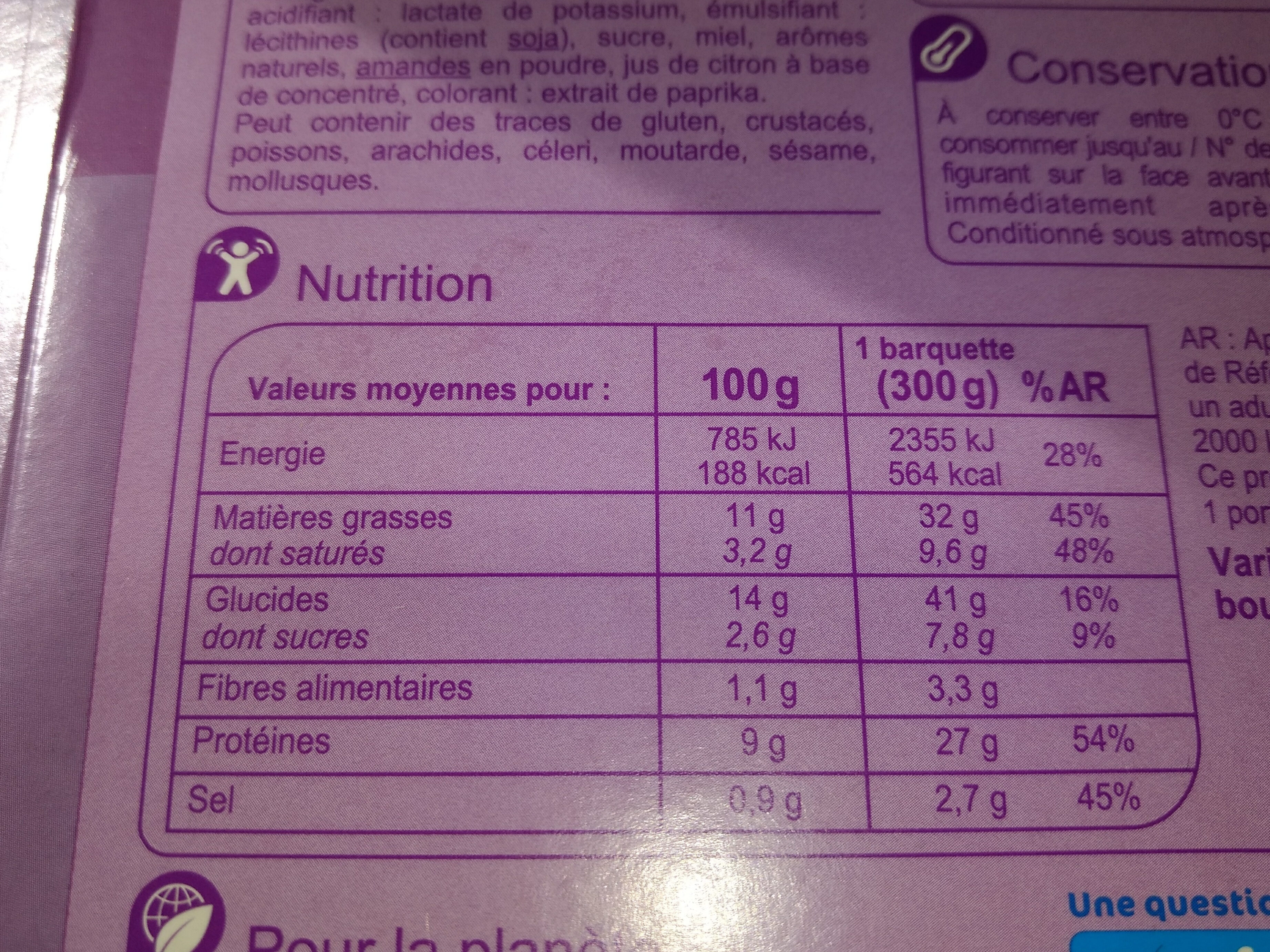 Poulet tikka massala et son riz basmati - Informations nutritionnelles - fr