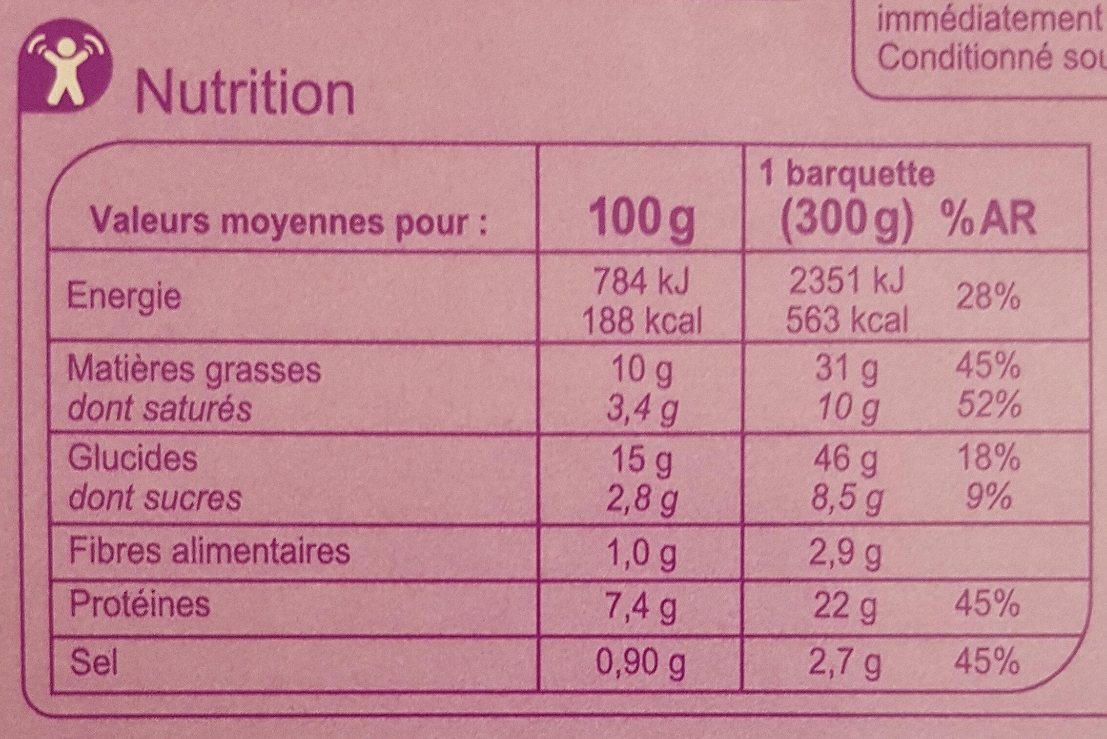 Poulet tikka massala et son riz Basmati - Valori nutrizionali - fr