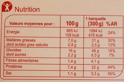 Nouilles impériales au poulet et aux crevettes - Valori nutrizionali - fr
