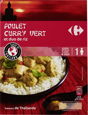 Poulet curry vert et duo de riz - Prodotto - fr