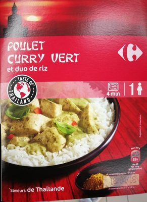 Poulet curry vert et duo de riz - Product