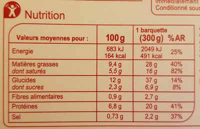Poulet curry vert et duo de riz - Nutrition facts - fr