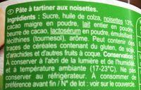 Pâte à tartiner sans huile de palme - Ingrediënten - fr