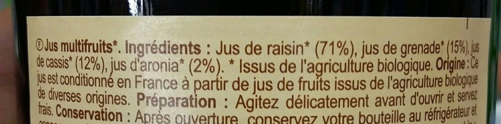 100% pur fruits pressés - Ingredienti - fr