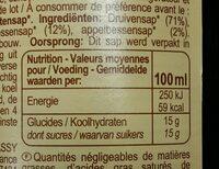 100% pur fruits pressés - Valori nutrizionali - fr