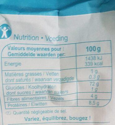 Farine de blé - Tout usage - Informations nutritionnelles