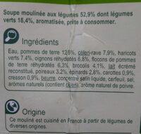 Mouliné aux légumes vert - Ingrédients - fr