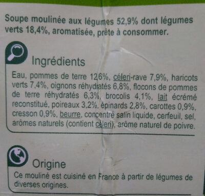 Mouliné aux légumes vert - Ingrédients