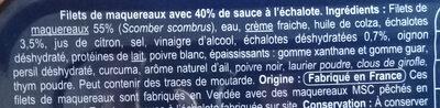 Filets de maquereaux à l'échalote / pêche durable - Ingredients