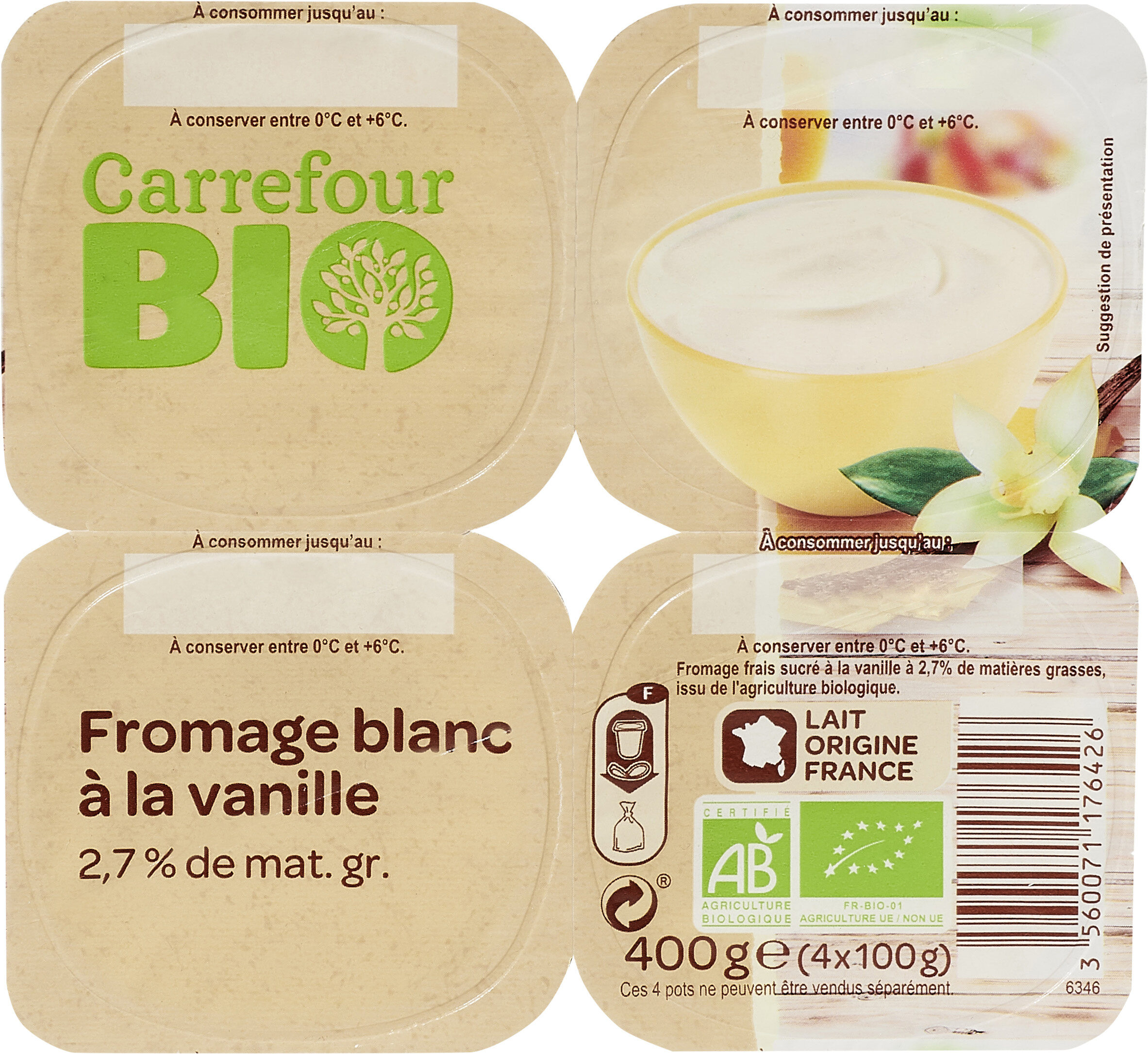 Fromage blanc a la vanille - Product - fr