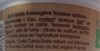 Cancoillotte nature carrefour bio - Ingredients - fr