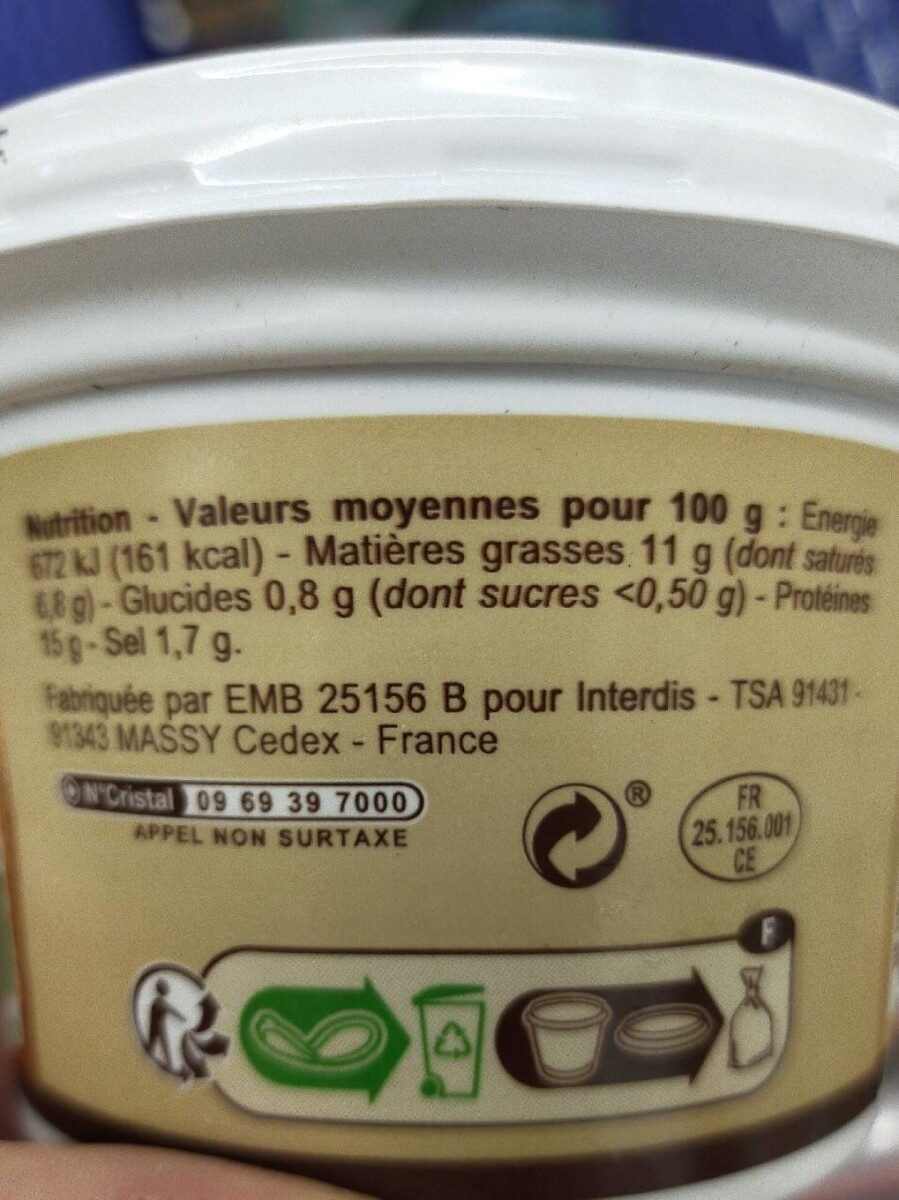 Cancoillotte nature carrefour bio - Nutrition facts - fr