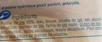 Pains panini pré grillés - Ingrediënten - fr
