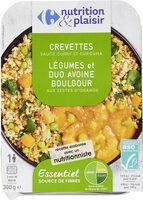 Crevettes Légumes et duo Avoine Boulgour - Produit - fr