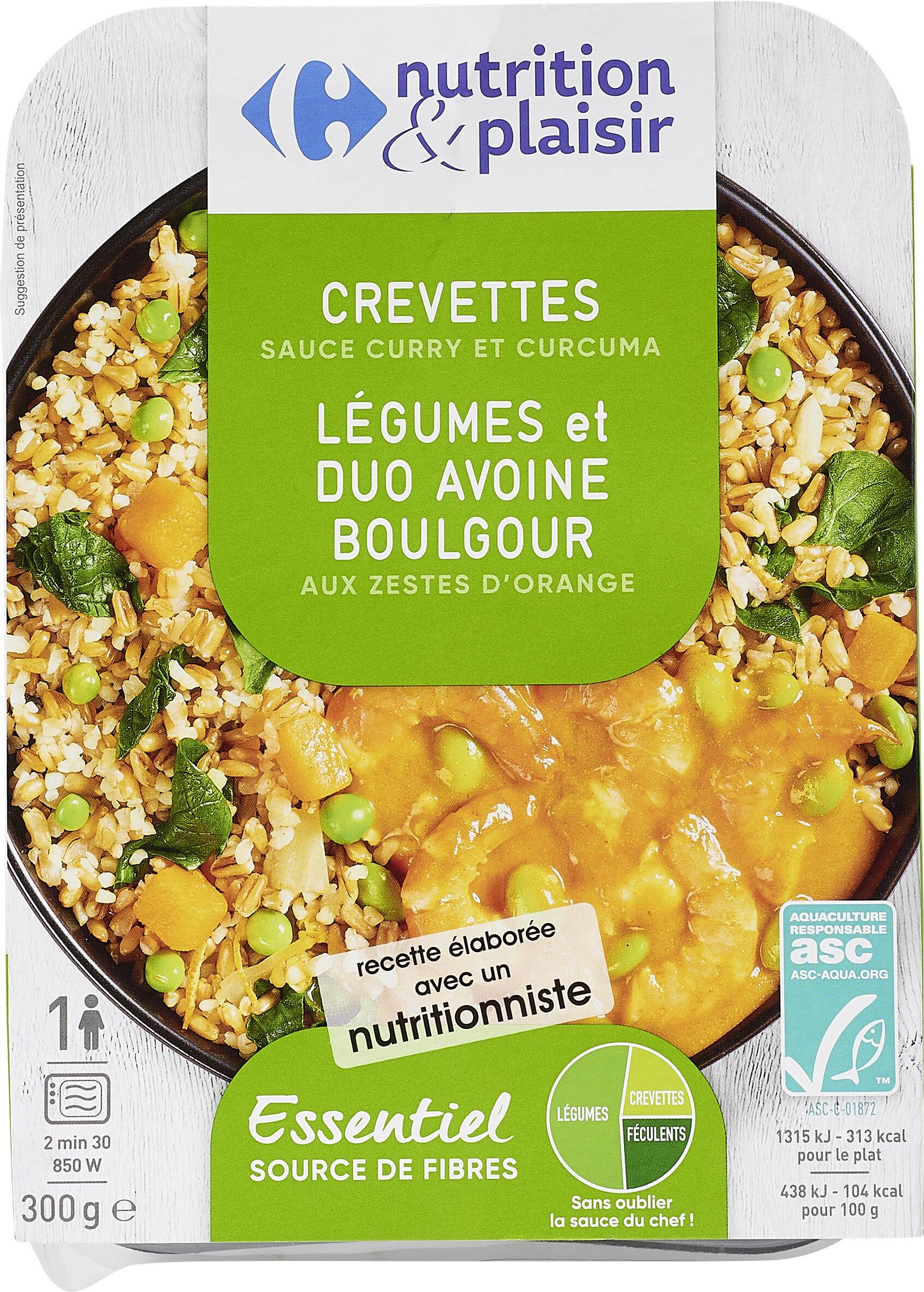Crevettes Légumes et duo Avoine Boulgour - Product - fr