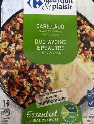 Cabillaud sauce citron duo avoine épeautre et légumes - Product