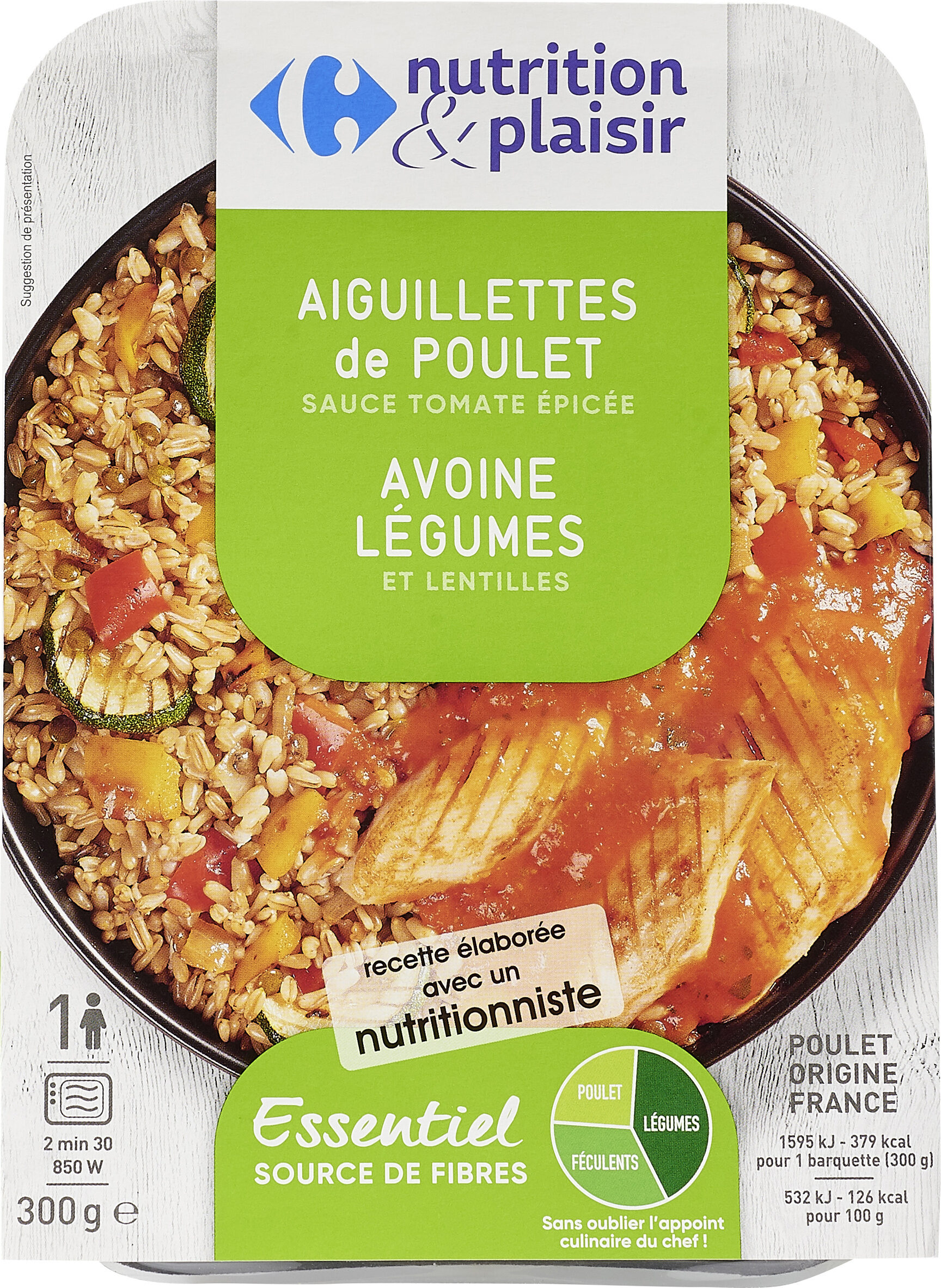 Aiguilettes de poulet/avoine legumes - Produit - fr