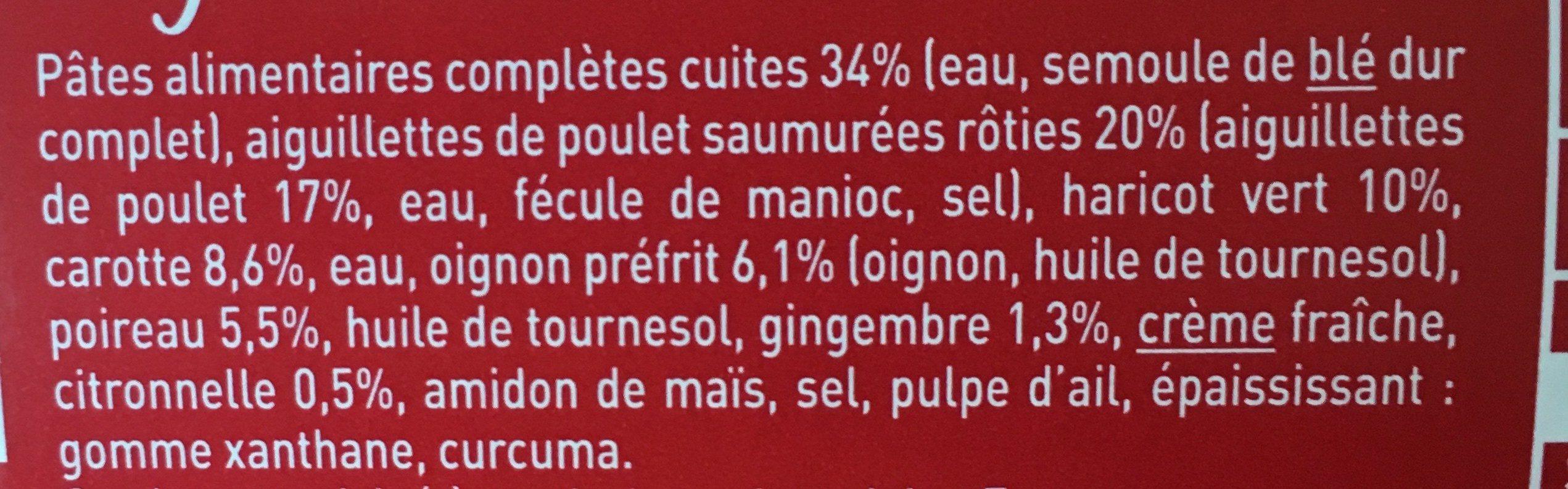 Aiguillettes de Poulet / Mini Penne Complètes - Ingredients - fr
