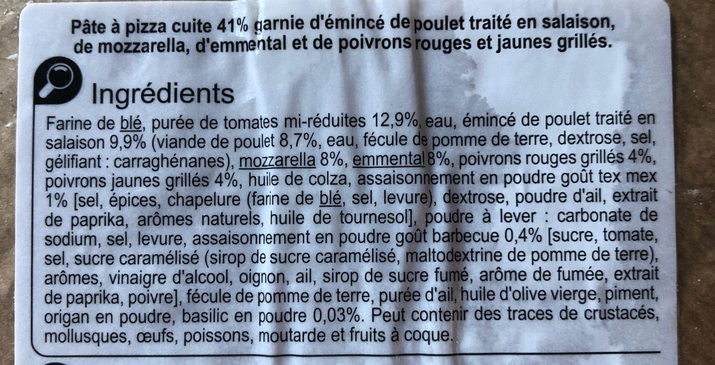 Poulet fajitas - Ingrediënten - fr
