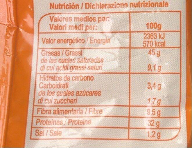 Pipas de calabaza - Voedingswaarden - es