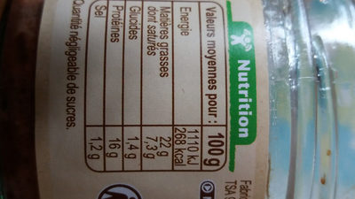 Terrine de foie de volaille - Informations nutritionnelles - fr