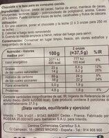 chocolate a la taza - Información nutricional