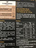 NOIR Saveur Abricot, Amandes & Romarin - Informations nutritionnelles - fr