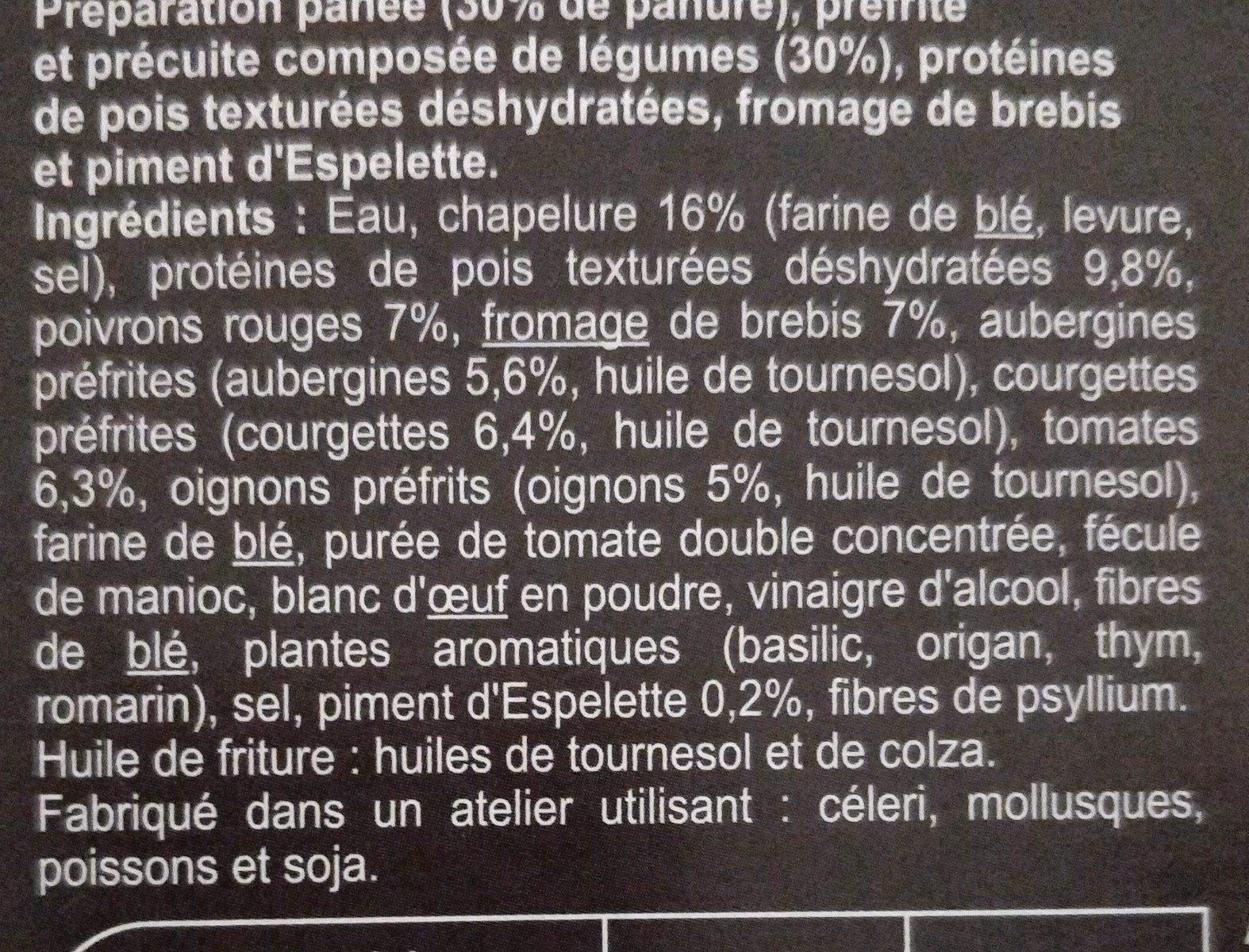 Panés gourmands Pois, poivron, piment d'Espelette - Ingredienti - fr