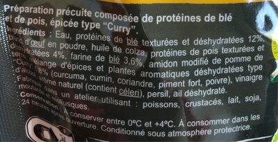 Emincés blé, pois au curry - Ingredientes - fr