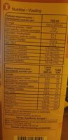 Boissons Noisette - Información nutricional