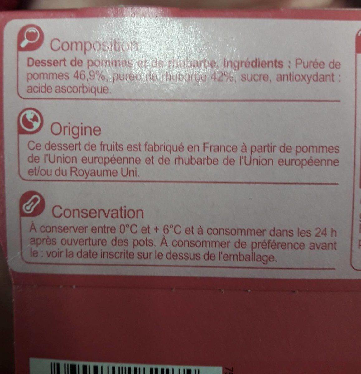 Pomme rhubarbe - Ingredients - fr