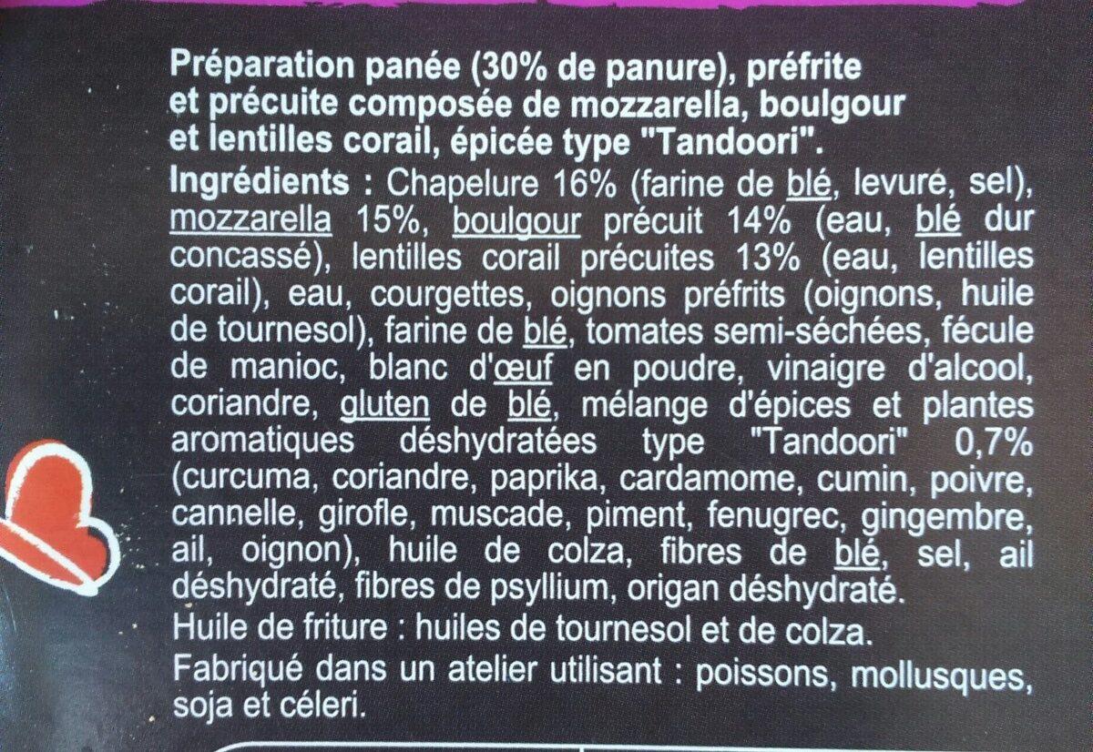 Panés gourmands boulgour, lentilles corail, épices - Ingrédients