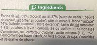 Sablé aux deux céréales - Ingrédients