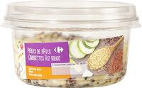 Perles de pates, courgettes, riz rouge - Produit - fr