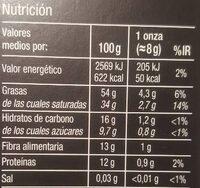 Selección chocolate 90% cacao - Informació nutricional - es