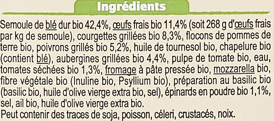 Tortellini légumes grillés - Ingrediënten - fr