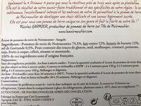 Ecrasé de pomme de terre de Noirmoutier - Ingrediënten - fr