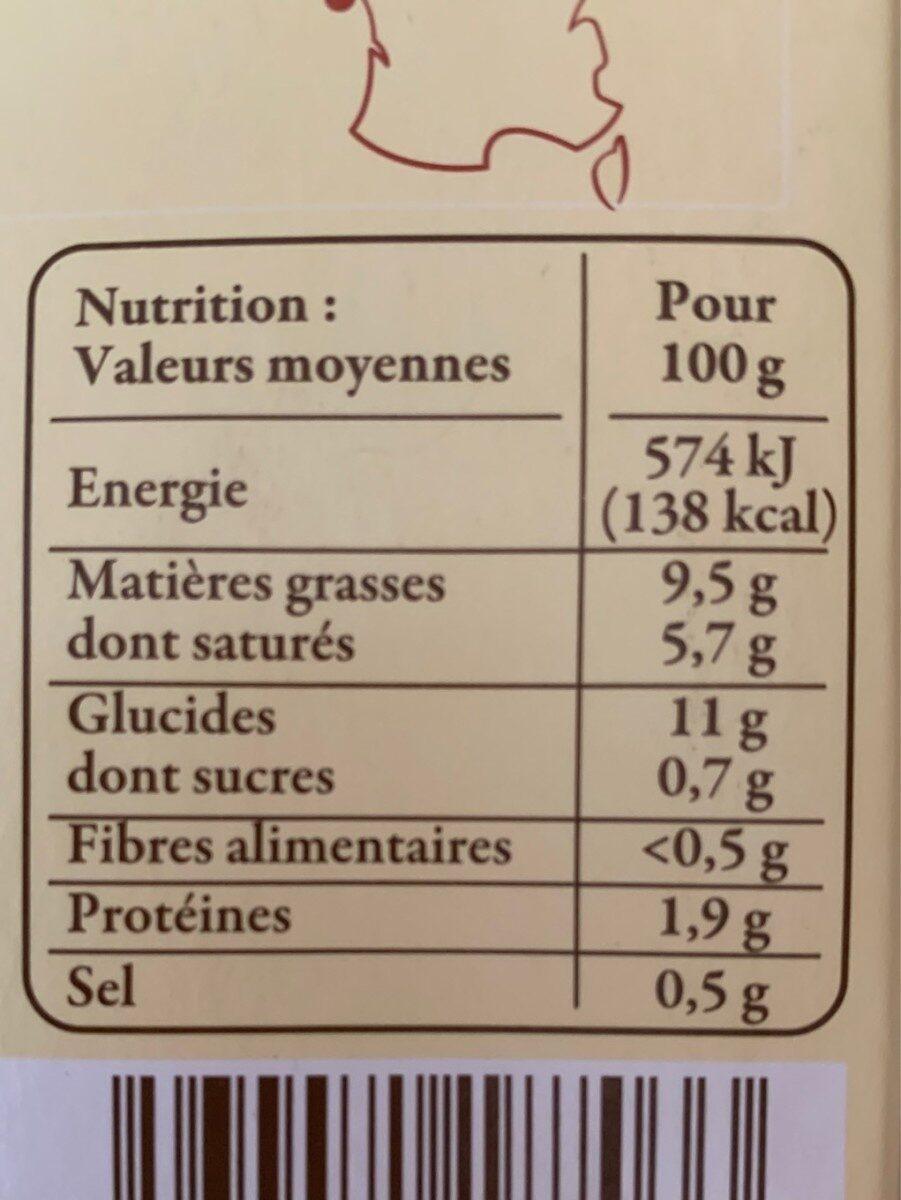 Ecrasé de pomme de terre de Noirmoutier - Voedingswaarden - fr