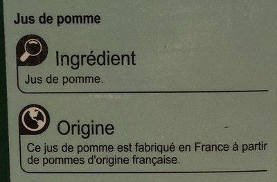 Pur jus Pomme - Ingredienti - fr