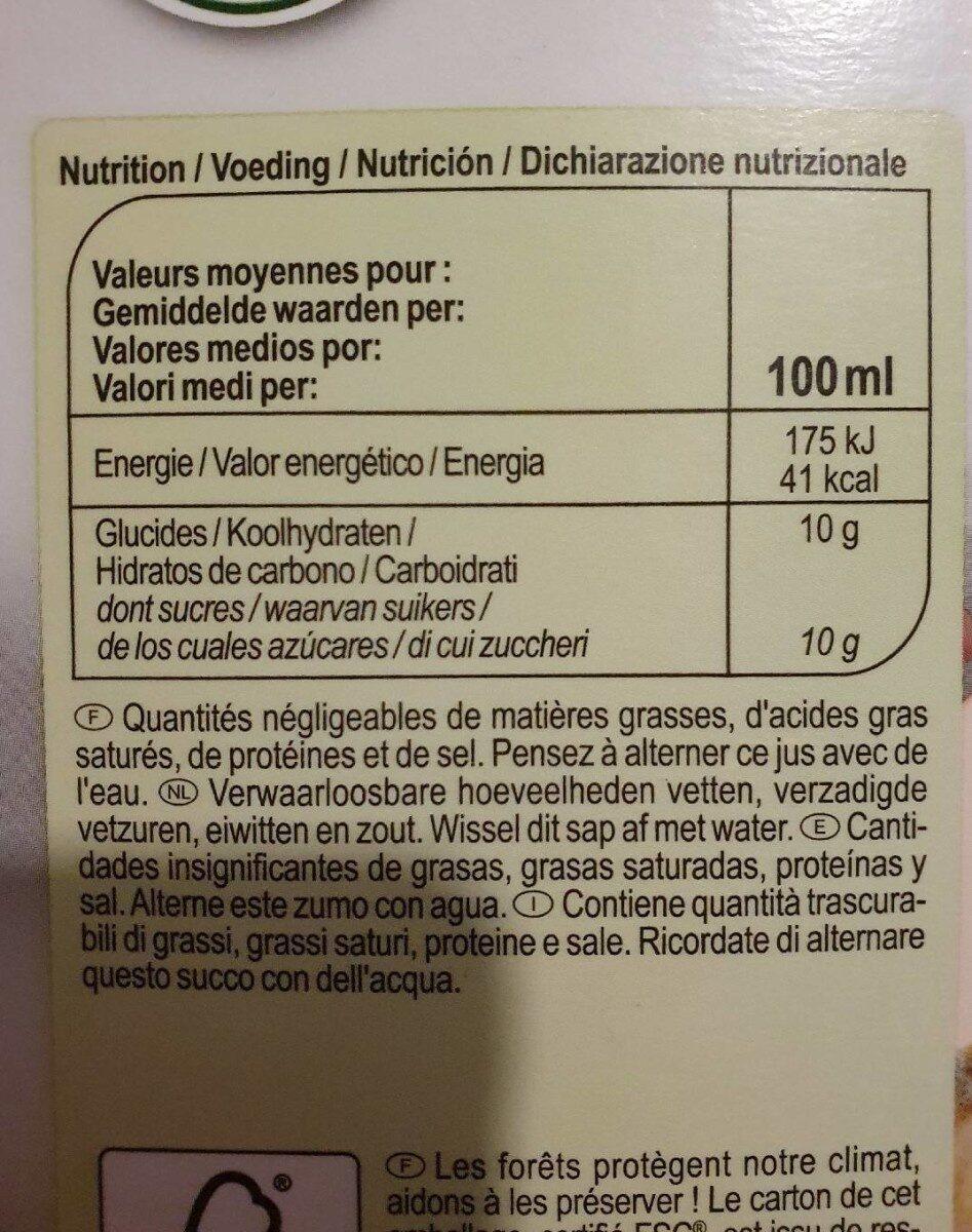 Pur jus Pomme - Valori nutrizionali - fr