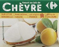 Yaourt au lait de chèvre sur lit à la mirabelle - Product