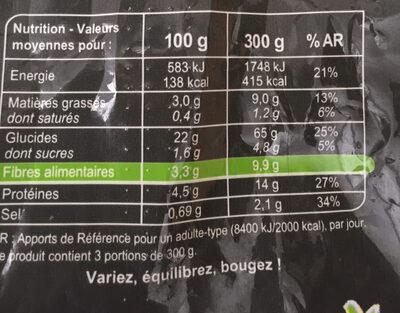 Poelee de riz noir - Nutrition facts