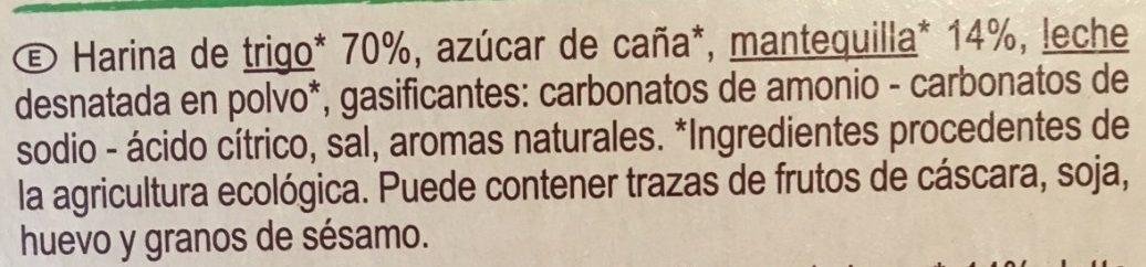 Galletas de mantequilla - Ingrediënten