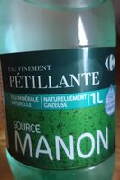 Eau finement pétillante, source manon - Product
