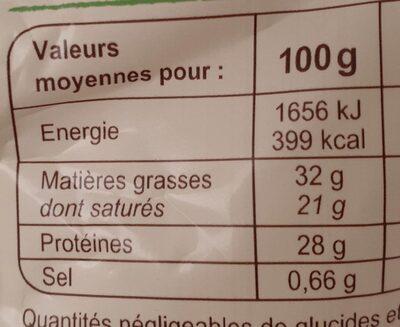 Gruyère IGP France râpé - Nutrition facts