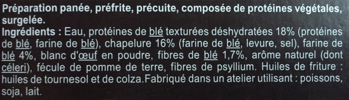 Panés de blé - Ingredients - fr