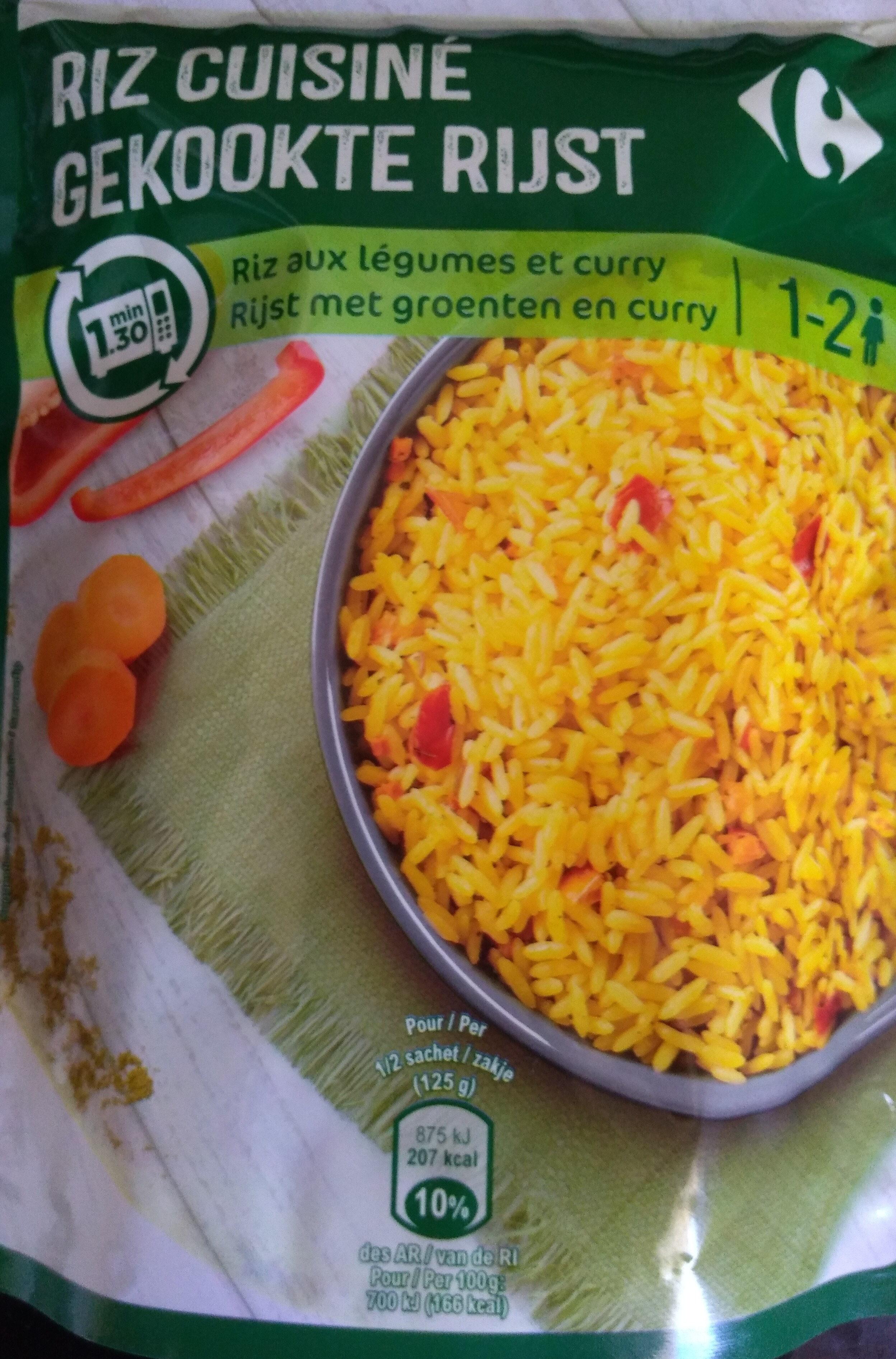 Riz aux légumes et curry - Produit