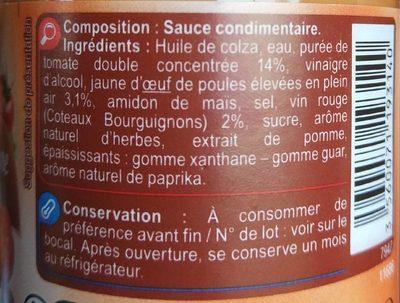 Sauce Bourguignonne - Ingrédients - fr